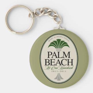 Palm Beach at 100 Basic Round Button Keychain