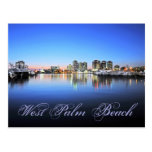 Palm Beach azul Tarjeta Postal