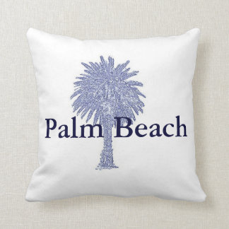 Palm Beach Canary Island Date Palm Throw Pillow