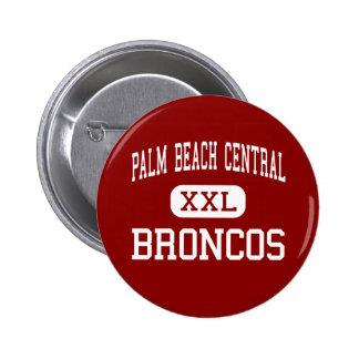 Palm Beach Central - Broncos - High - Wellington Pinback Button
