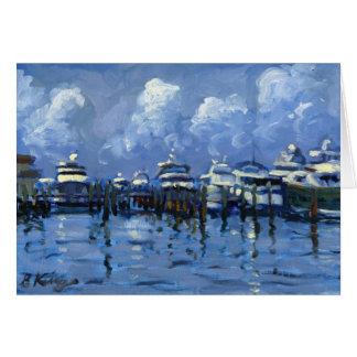 Palm Beach City Docks note cards