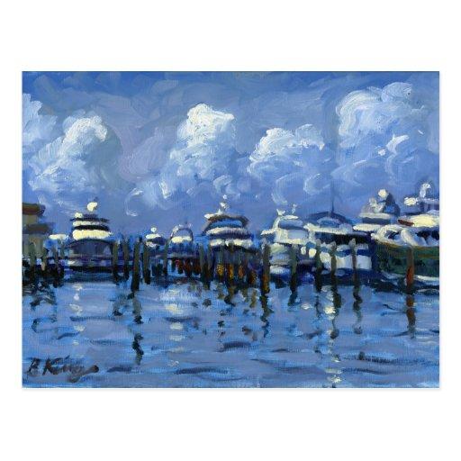 Palm Beach City Docks postcard