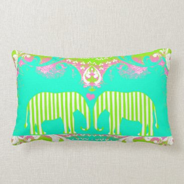 Beach Themed Palm Beach Elephant Love Pillow