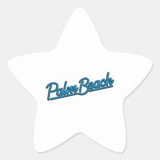 Palm Beach en ciánico Pegatina En Forma De Estrella