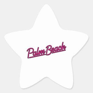 Palm Beach en magenta Pegatina En Forma De Estrella