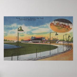 Palm Beach, FL - Kennel Club, Dog Racing Track Poster