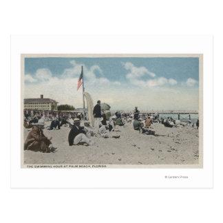 Palm Beach, FL - The Swimming Hour Post Card