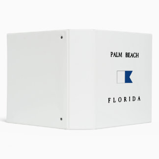 Palm Beach Florida Alpha Dive Flag 3 Ring Binder
