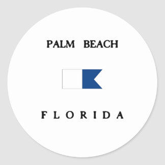 Palm Beach Florida Alpha Dive Flag Sticker