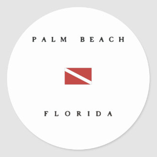 Palm Beach Florida Scuba Dive Flag Round Stickers