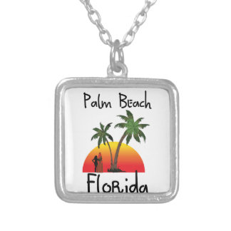 Palm Beach Florida Silver Plated Necklace