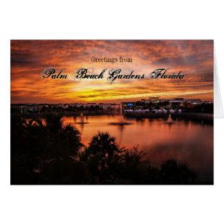 Palm Beach Gardens Florida Sunset Card