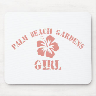 Palm Beach Gardens Pink Girl Mouse Pad