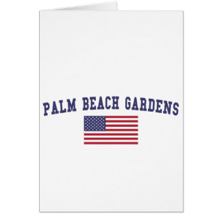 Palm Beach Gardens US Flag Card