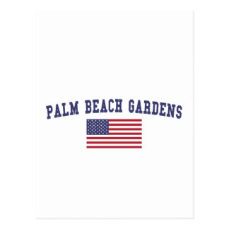 Palm Beach Gardens US Flag Postcard