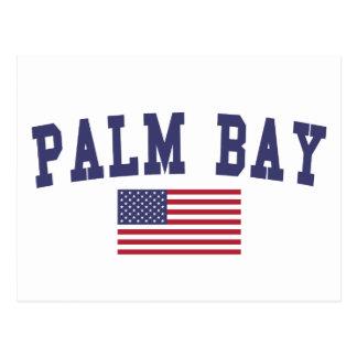 Palm Beach Gardens US Flag Postcard