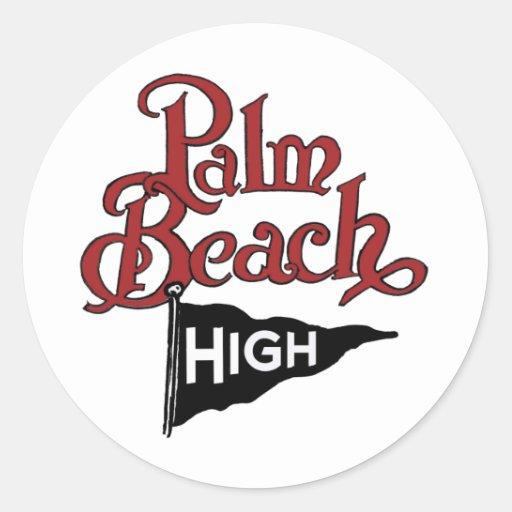 Palm Beach High #1 Classic Round Sticker