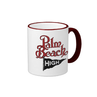 Palm Beach High #1 Ringer Coffee Mug