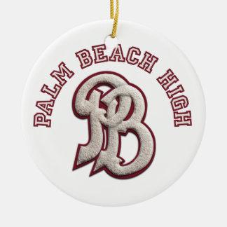 Palm Beach High Alumni Ceramic Ornament