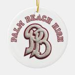 Palm Beach High Alumni Christmas Tree Ornament