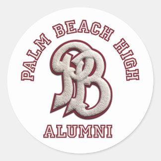 Palm Beach High Alumni Classic Round Sticker