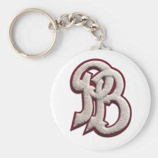 Palm Beach High Letterman Basic Round Button Keychain