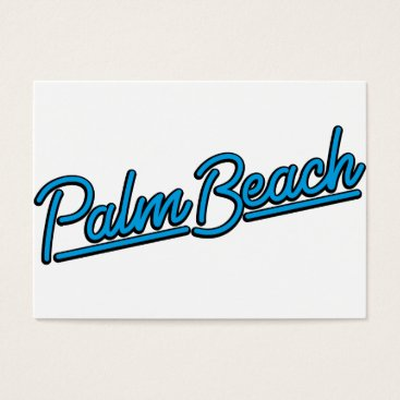 Beach Themed Palm Beach in cyan Business Card