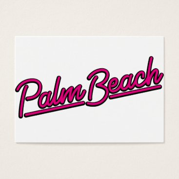 Beach Themed Palm Beach in magenta Business Card