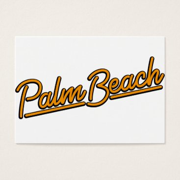 Beach Themed Palm Beach in orange Business Card