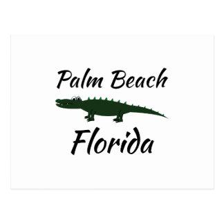 Palm Beach la Florida Tarjeta Postal