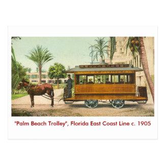 Palm Beach la Florida tren Tarjetas Postales