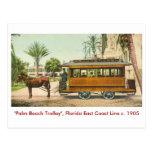 Palm Beach, la Florida, tren Tarjetas Postales