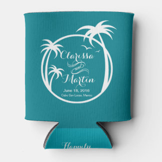 Palm Beach Logo | CHOOSE YOUR BACKGROUND COLOR Can Cooler