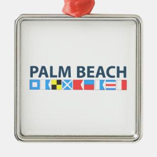 Palm Beach. Metal Ornament