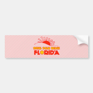 Palm Beach real, la Florida Pegatina De Parachoque