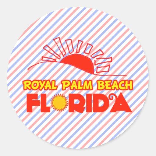 Palm Beach real, la Florida Etiquetas Redondas