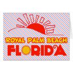 Palm Beach real, la Florida Felicitacion