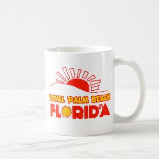 Palm Beach real, la Florida Taza Básica Blanca