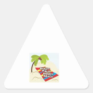 Palm Beach sombrío Pegatinas Trianguladas