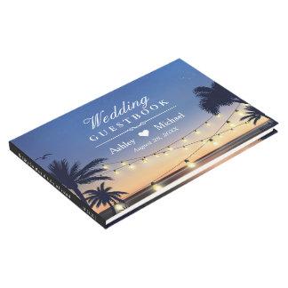 Palm Beach String Lights Destination Wedding Guest Book