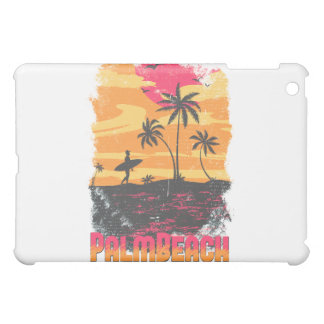 Palm Beach surfer palm trees pink orange faded iPad Mini Cases