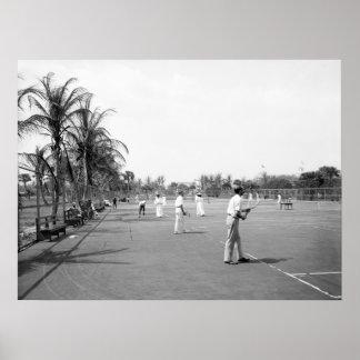 Palm Beach Tennis, 1900 Poster