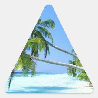 ¡Palm Beach tropical! Calcomanías Trianguloes