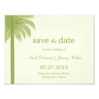 Palm Beach Wedding Save The Date Cards - Green