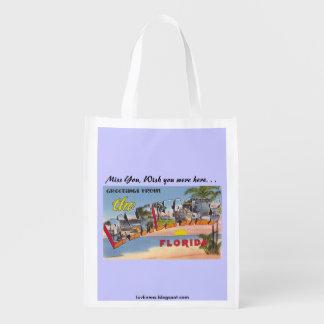 Palm Beaches Reusable Grocery Bag