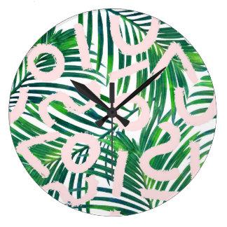 Palm Blabber Large Clock