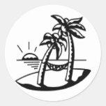 Palm black sticker