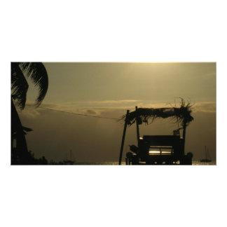 palm boat photo card
