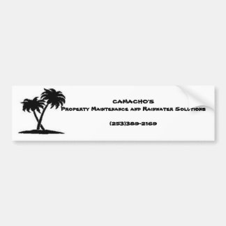 palm, CAMACHO'S Property Maintenance and Rainwa... Bumper Sticker