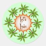 Palm Circle Luau Sticker